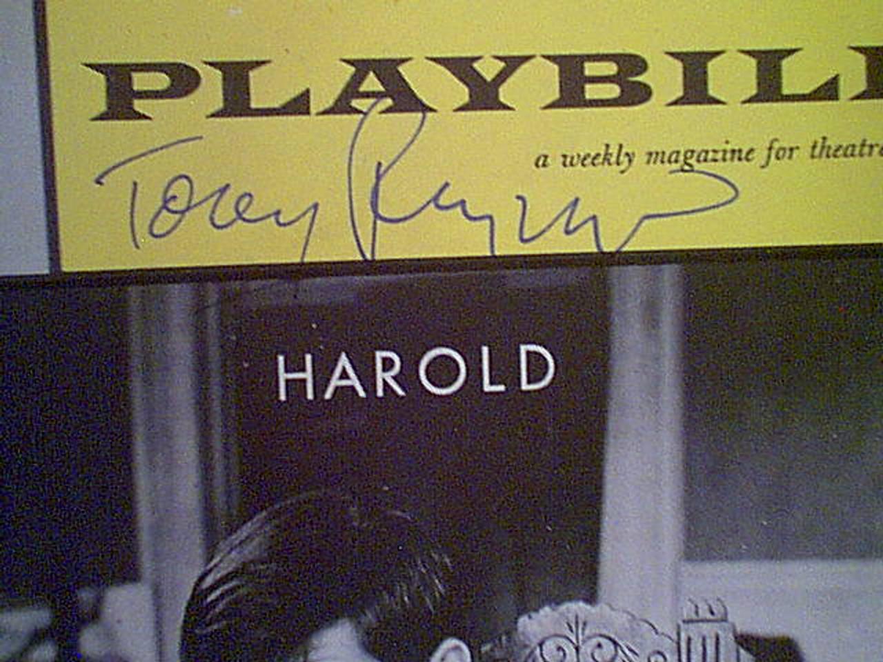 "Perkins, Anthony Tony Playbill 1962 ""Harold"" Signed Autograph Cover Photo"