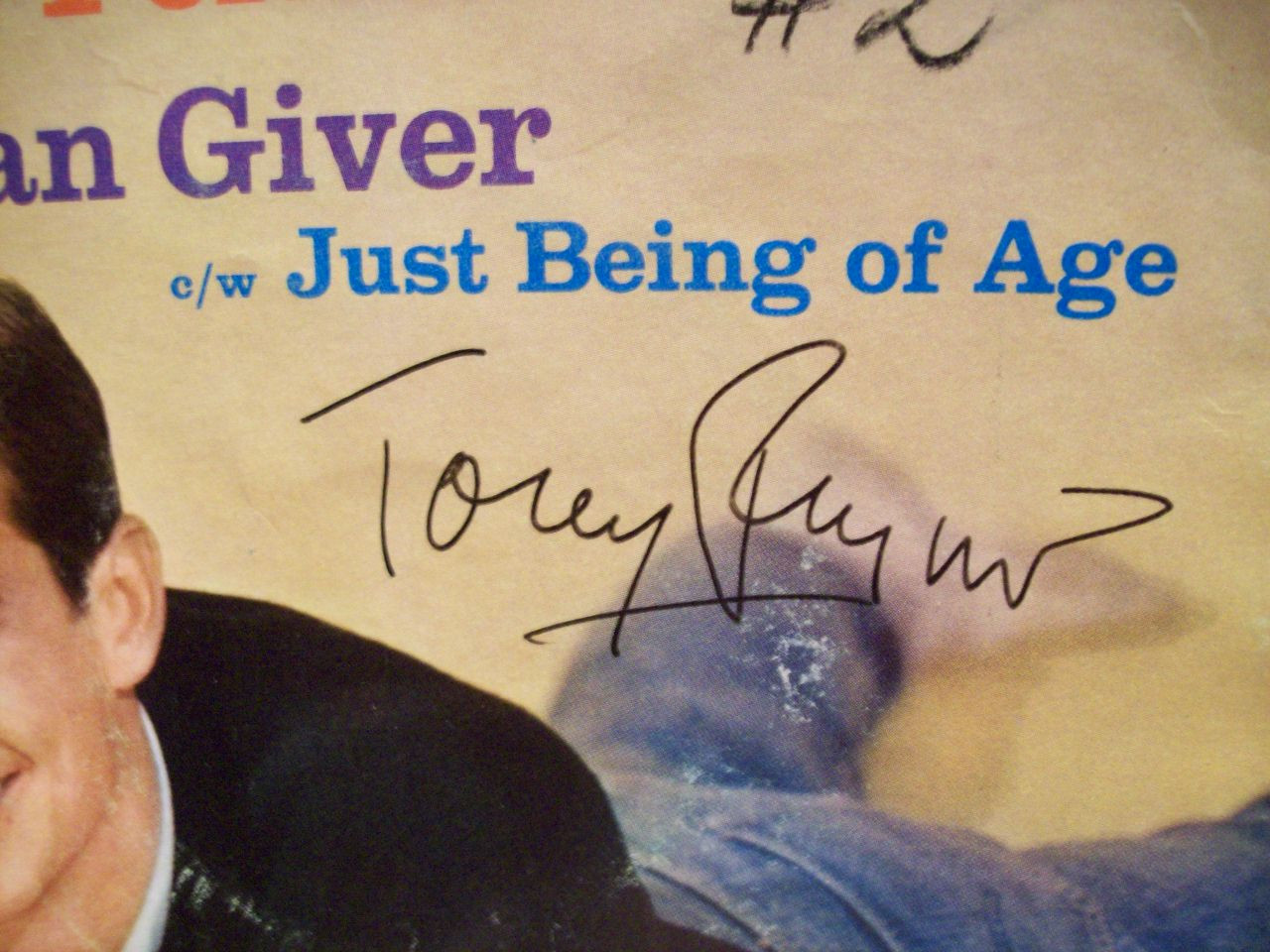 Perkins, Tony Anthony 7 Inch 45 Rpm Signed Autograph Pic Sleeve Indian Giver Just Being Of Age Psycho