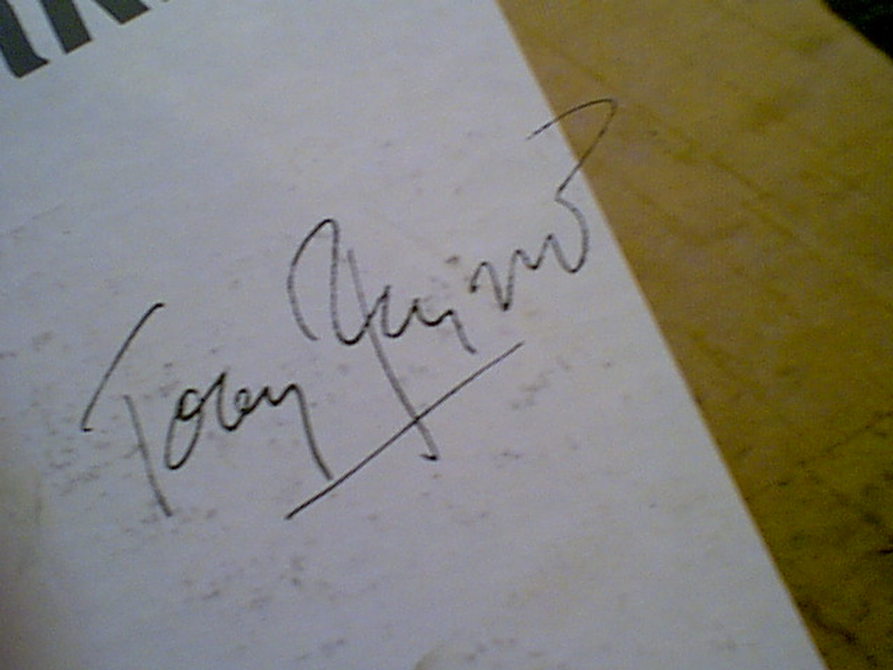 Perkins, Tony Anthony First LP 1950'S Signed Autograph Photo April Fool