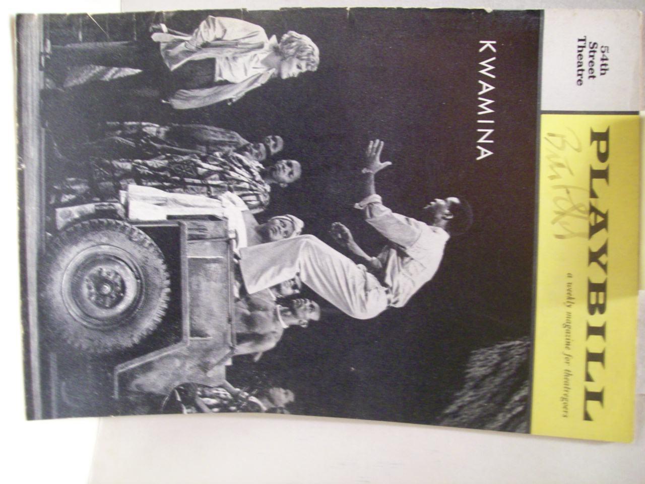Peters, Brock Playbill Signed Autograph Kwamina 1961