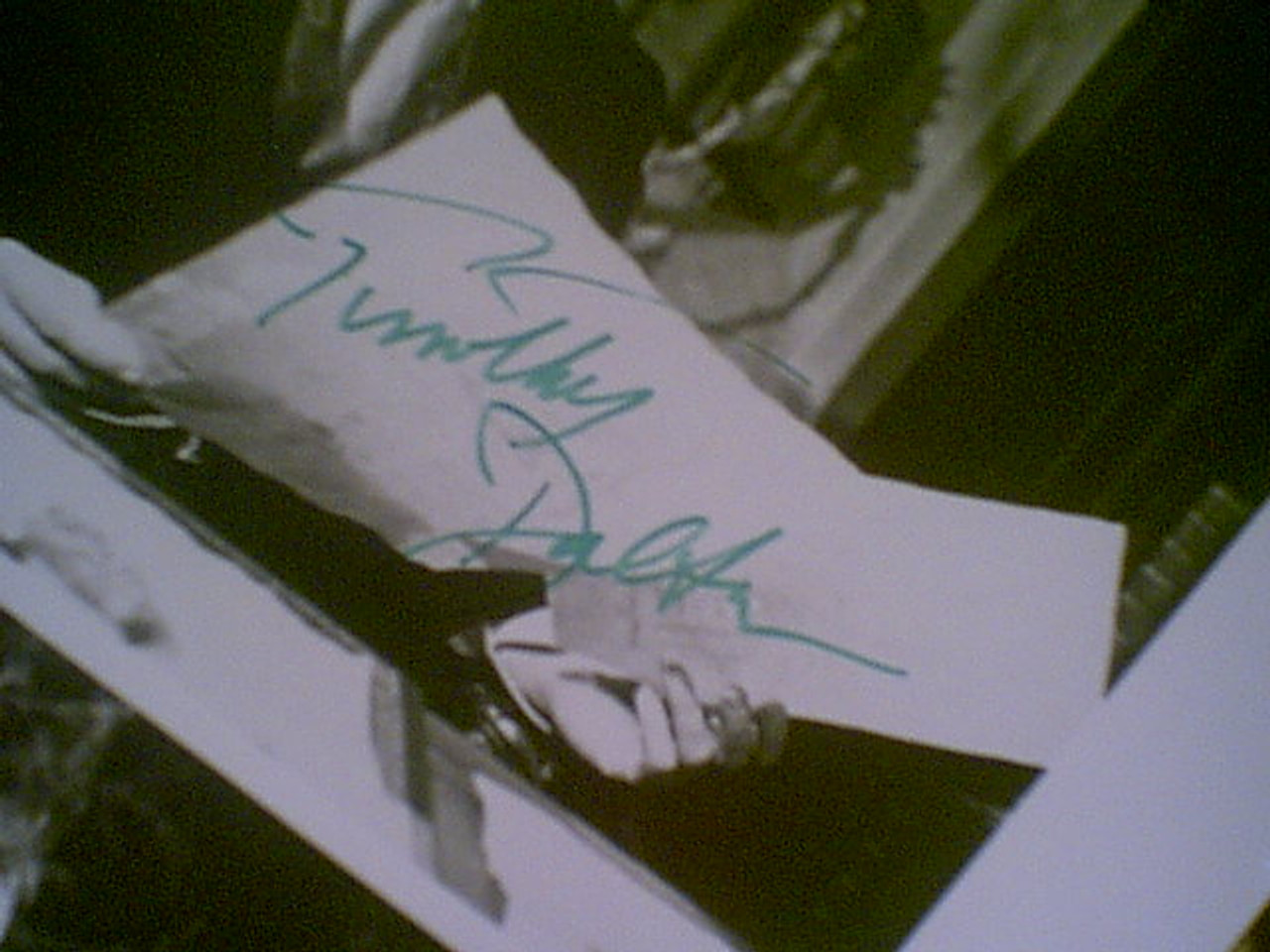 """Pryce, Jonathan Timothy Dalton Twiggy """"The Doctor And The Devils"""" 1985 Photo Signed Autograph 3 Movie Scene Photos"""