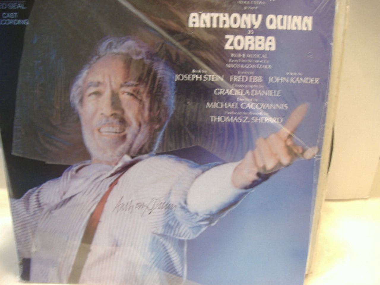 Quinn, Anthony LP Signed Autograph Sealed Zorba Rca Red Seal