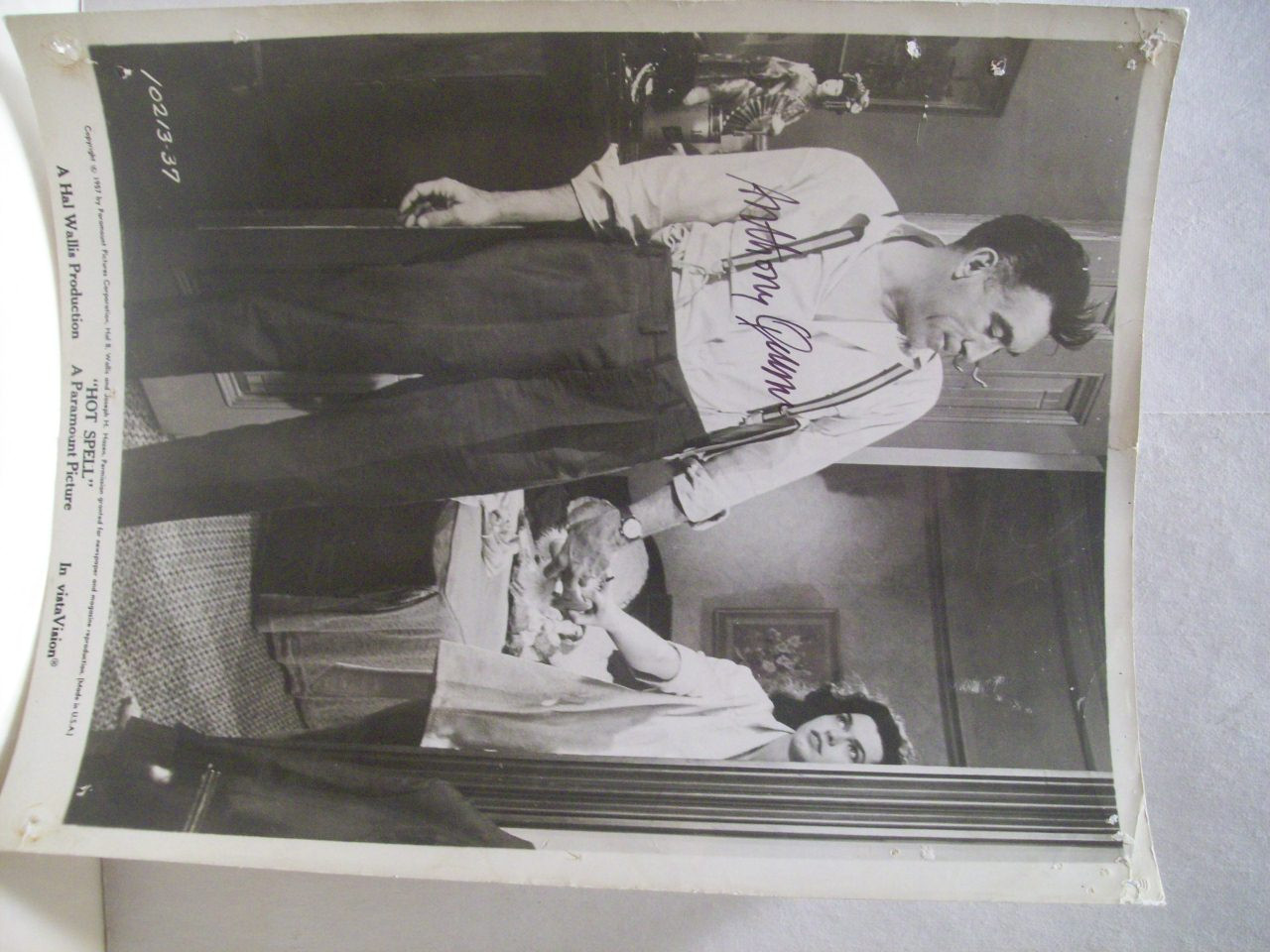 Quinn, Anthony Photo Signed Autograph Hot Spell 1958