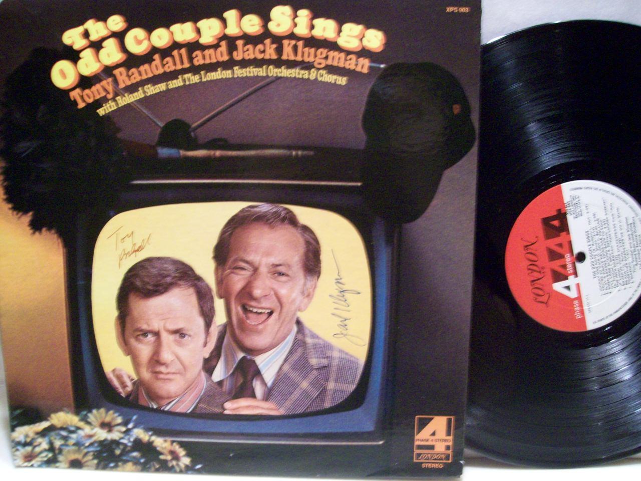 Randall, Tony Jack Klugman LP Signed Autograph The Odd Couple 1973