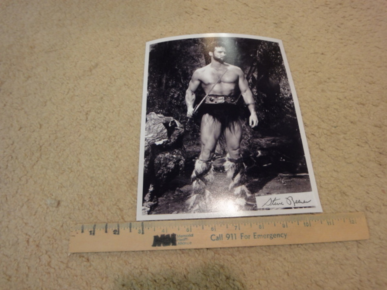 """Reeves, Steve Photo Signed Autograph """"Goliah And The Barbarians"""" Movie Scene Photo """"Hercules"""""""