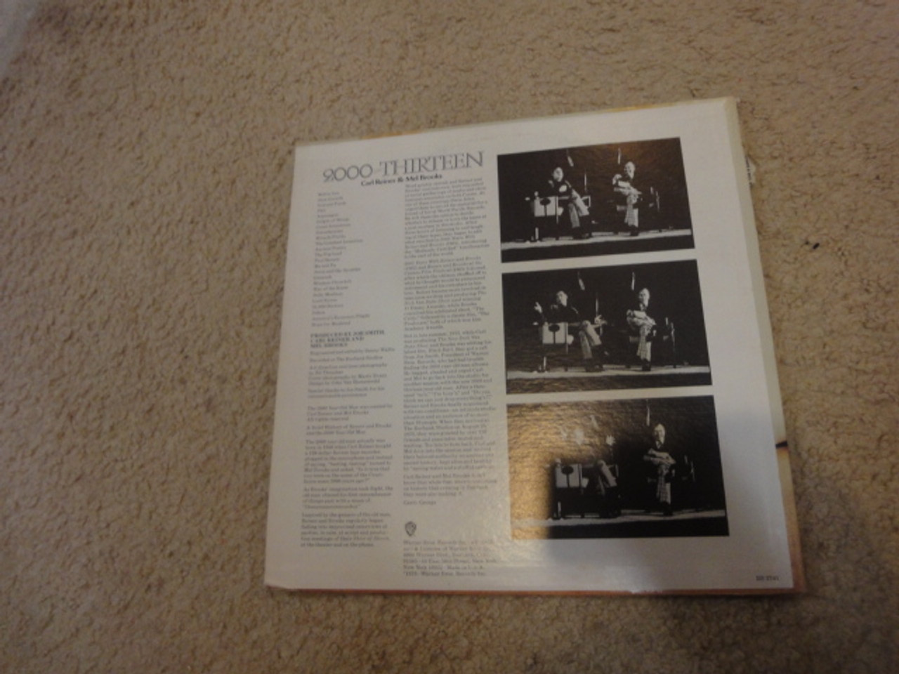 """Reiner, Carl and Mel Brooks """"2000 And Thirteen"""" 1973 LP Signed Autograph """"Jesus And The Apostles"""""""