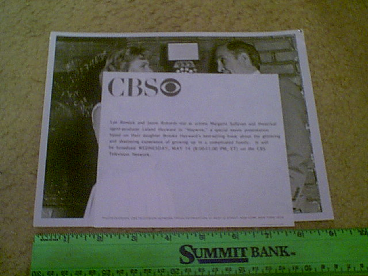 """Robards, Jason & Lee Remick 1980 Photo """"Haywire"""" Signed Autograph With Byline"""
