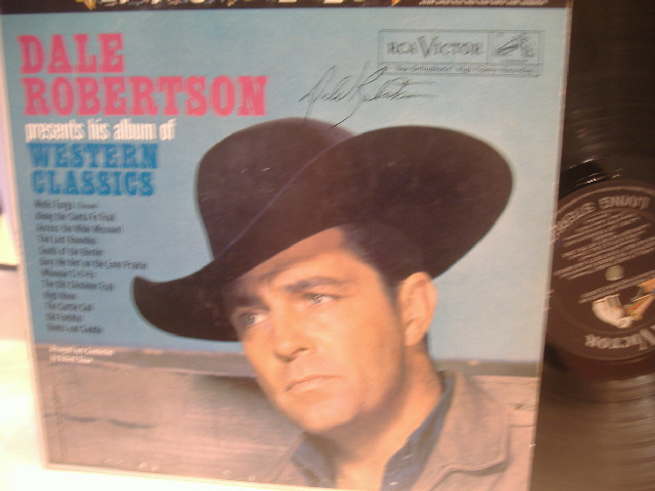Robertson, Dale LP Signed Autograph Tales Of Wells Fargo Dynasty