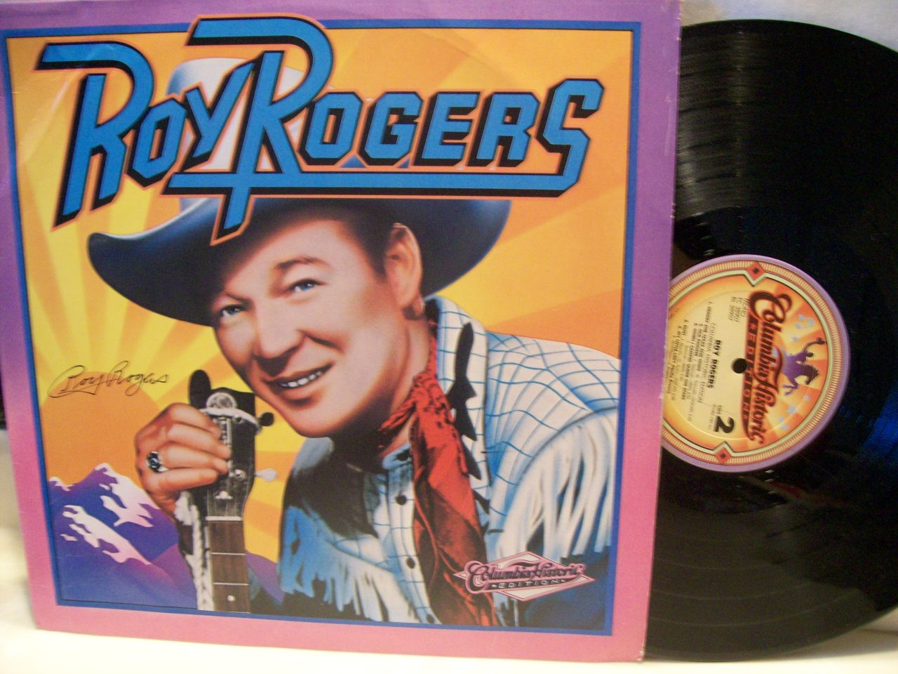 Rogers, Roy LP Signed Autograph Columbia Historic Edition 1984