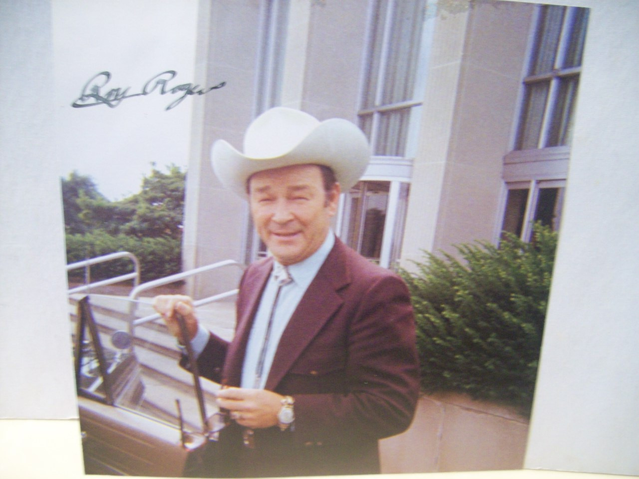 Rogers, Roy Photo Signed Autograph Dale Evans Trigger Cowboy Western