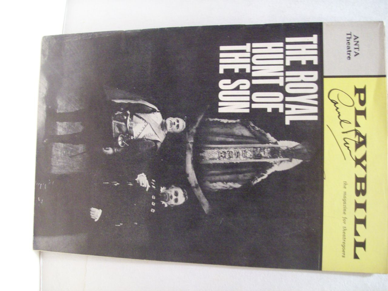 Rose, George Playbill Signed Autograph The Royal Hunt Of The Sun 1966