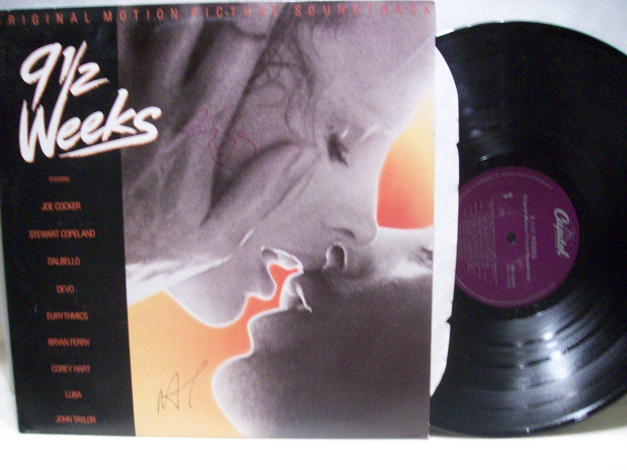 Rourke, Mickey Kim Basinger LP Signed Autograph 9 1/2 Weeks 1986