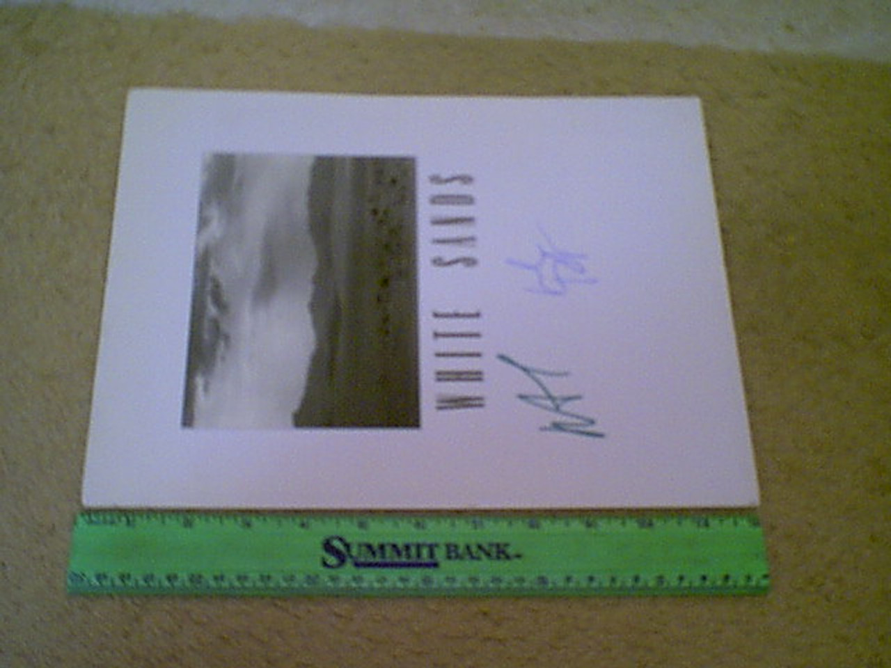 "Rourke, Mickey Willem Dafoe ""White Sands"" 1992 Press Kit Signed Autograph Photo"