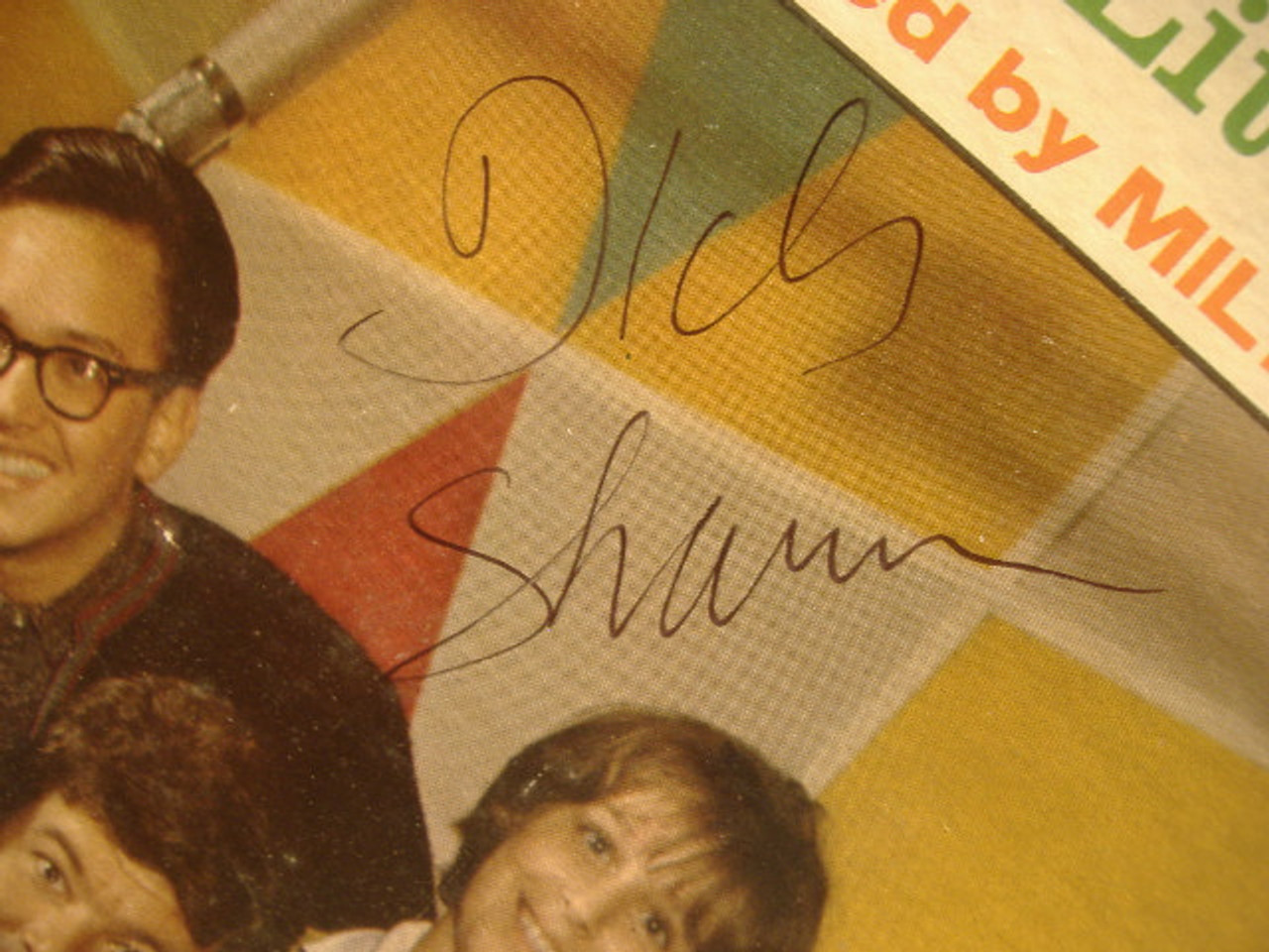Shawn, Dick LP Signed Autograph Sings With His Little People