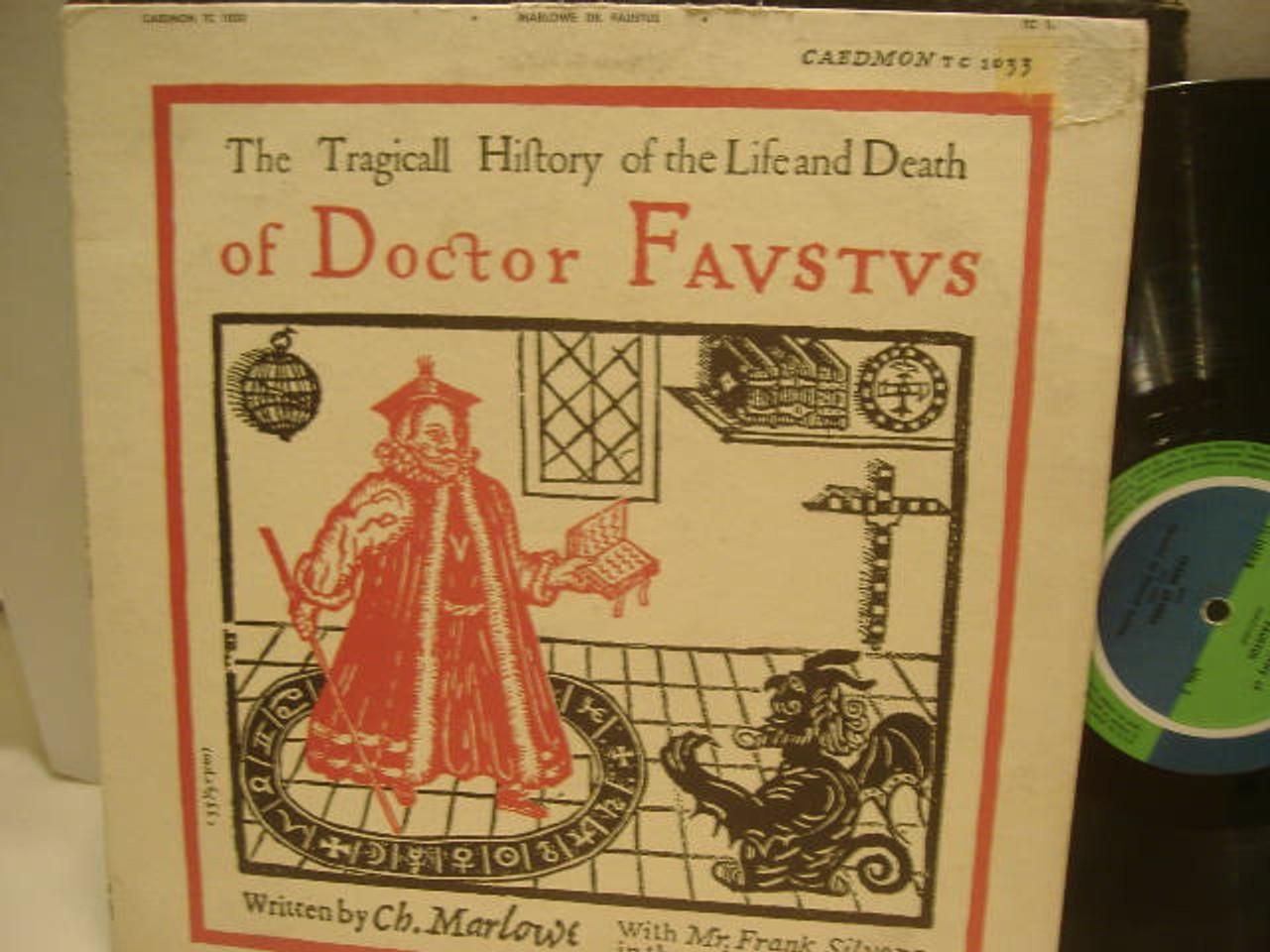 Silvera, Frank LP Signed Autograph Dr Faustus Ch Marlowe