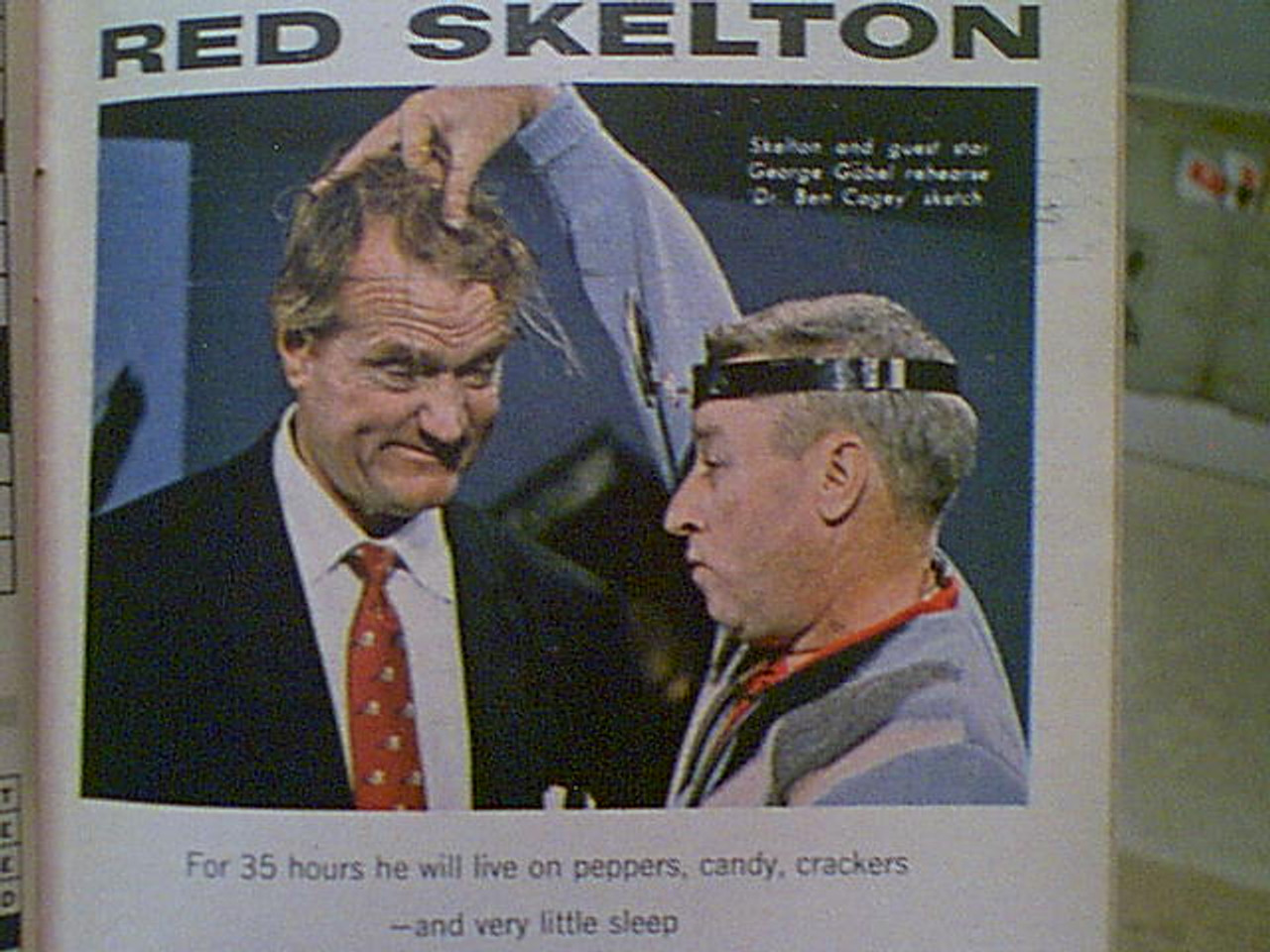 Skelton, Red TV Guide Magazine 1963 Signed Autograph Color Cover Photo