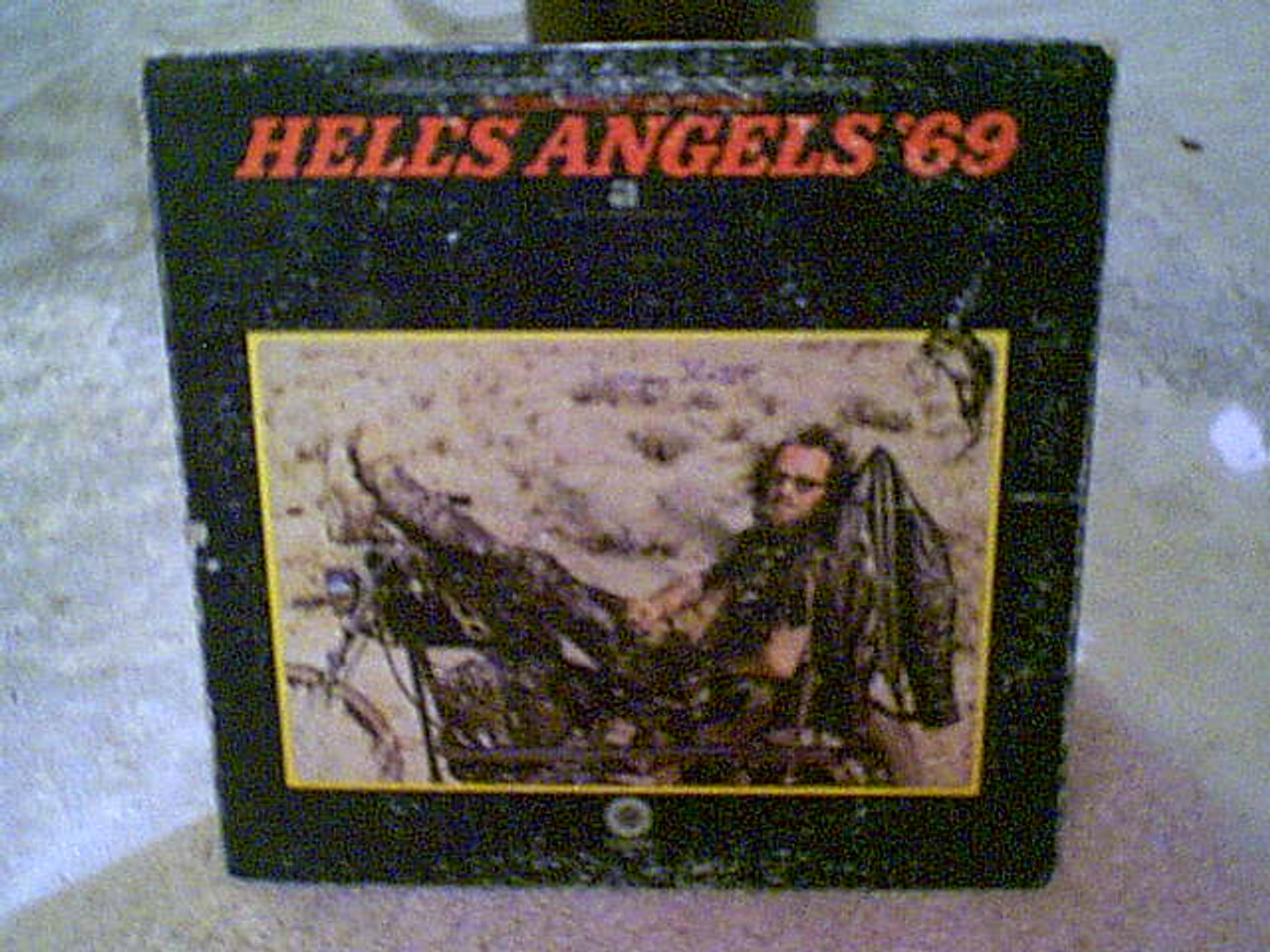 """Slate, Jeremy """"Hell'S Angels '69"""" LP Signed Autograph Color Photos Motorcyles"""