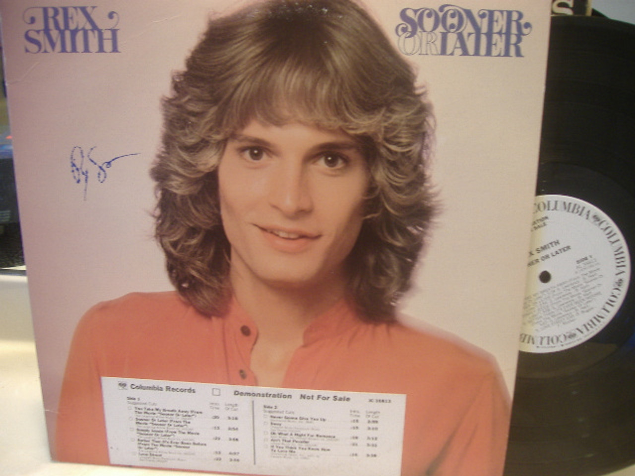 Smith, Rex LP Signed Autograph Sooner Or Later
