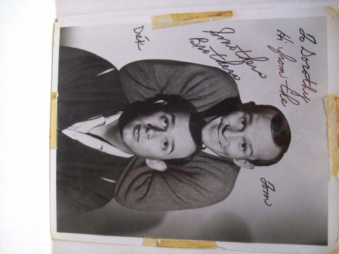 Smothers Brothers Tom And Dick Photo Signed Autograph