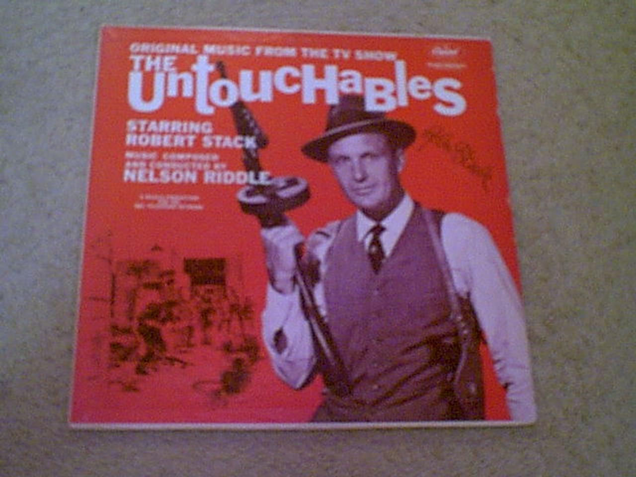 """Stack, Robert """"The Untouchables"""" 1960 LP Signed Autograph Theme Photo"""