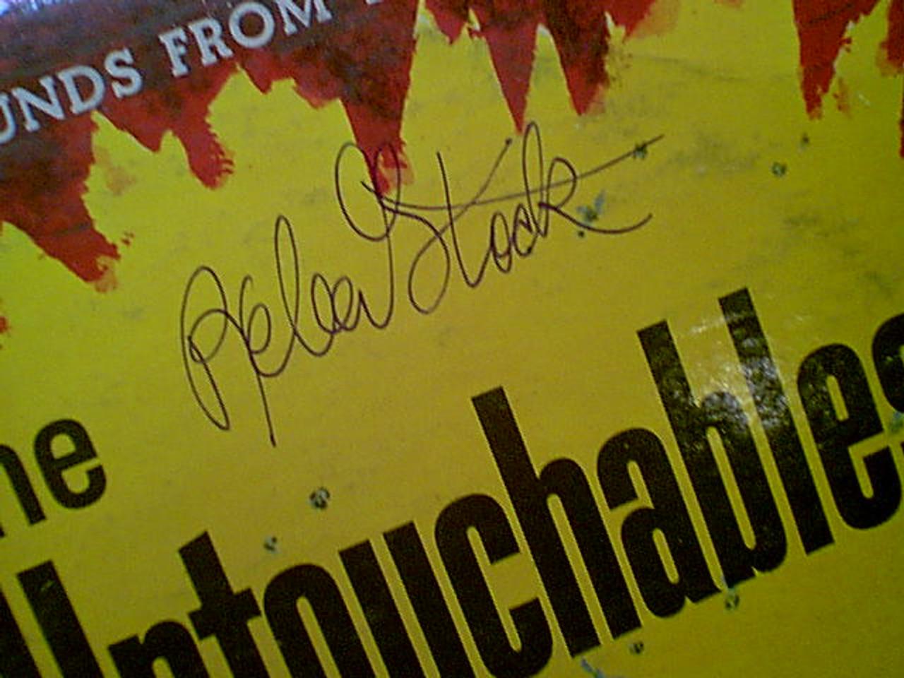 """Stack, Robert """"The Untouchables"""" LP 1959 Signed Autograph Theme"""