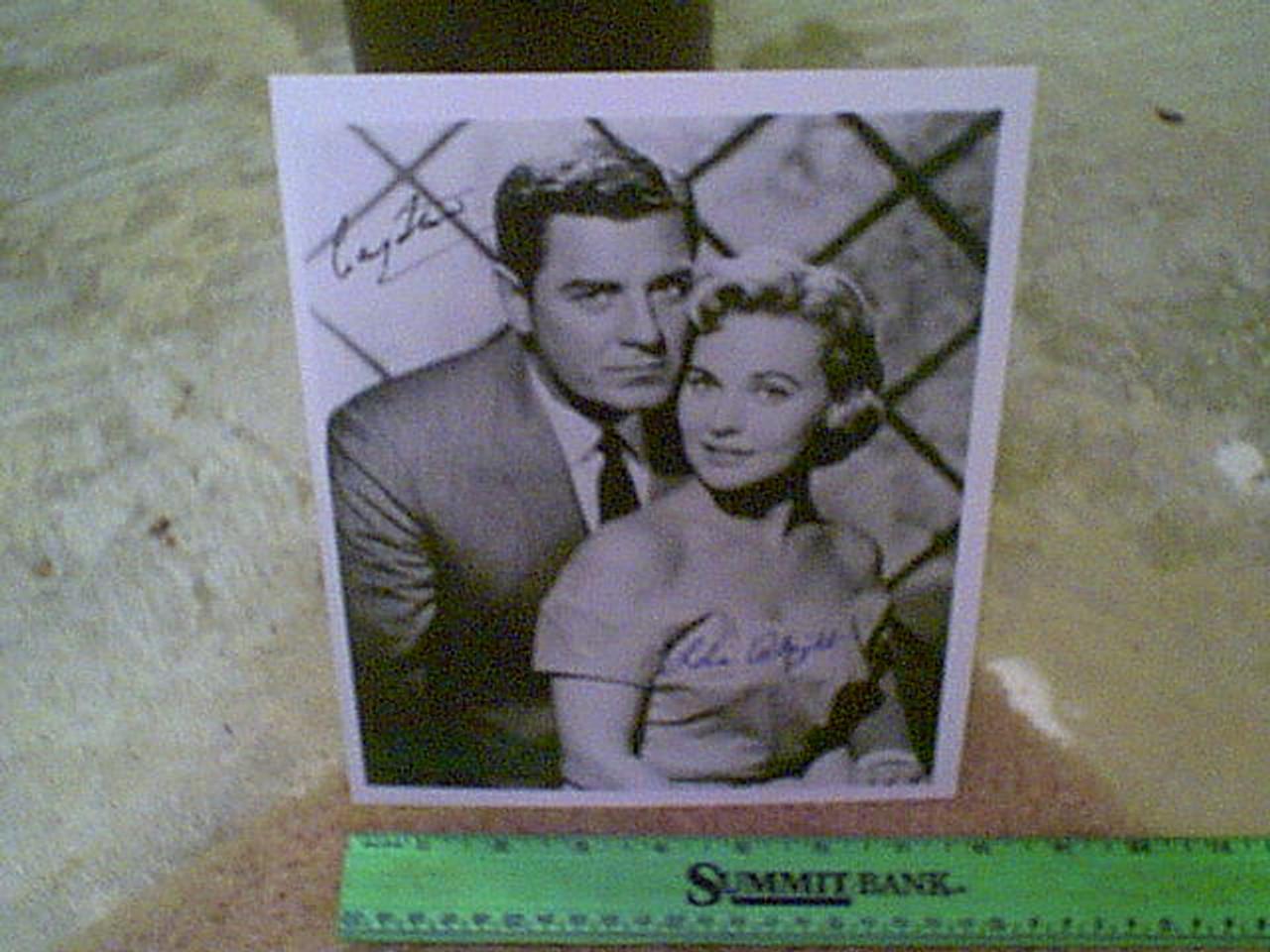"Stevens, Craig and Lola Albright Photo Signed Autograph ""Peter Gunn"""