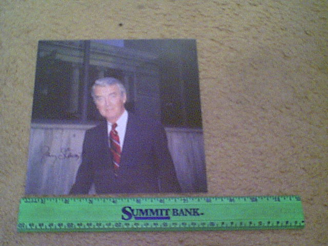 Stewart, Jimmy James Color Photo Signed Autograph Candid