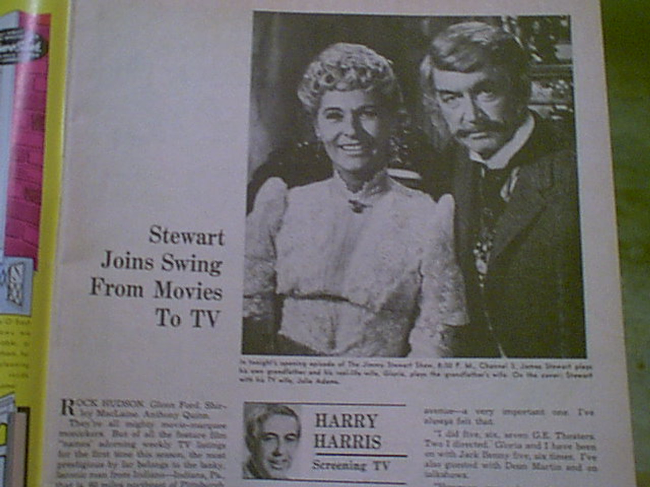 Stewart, Jimmy James TV Week Magazine 1971 Signed Autograph Color Cover Photo