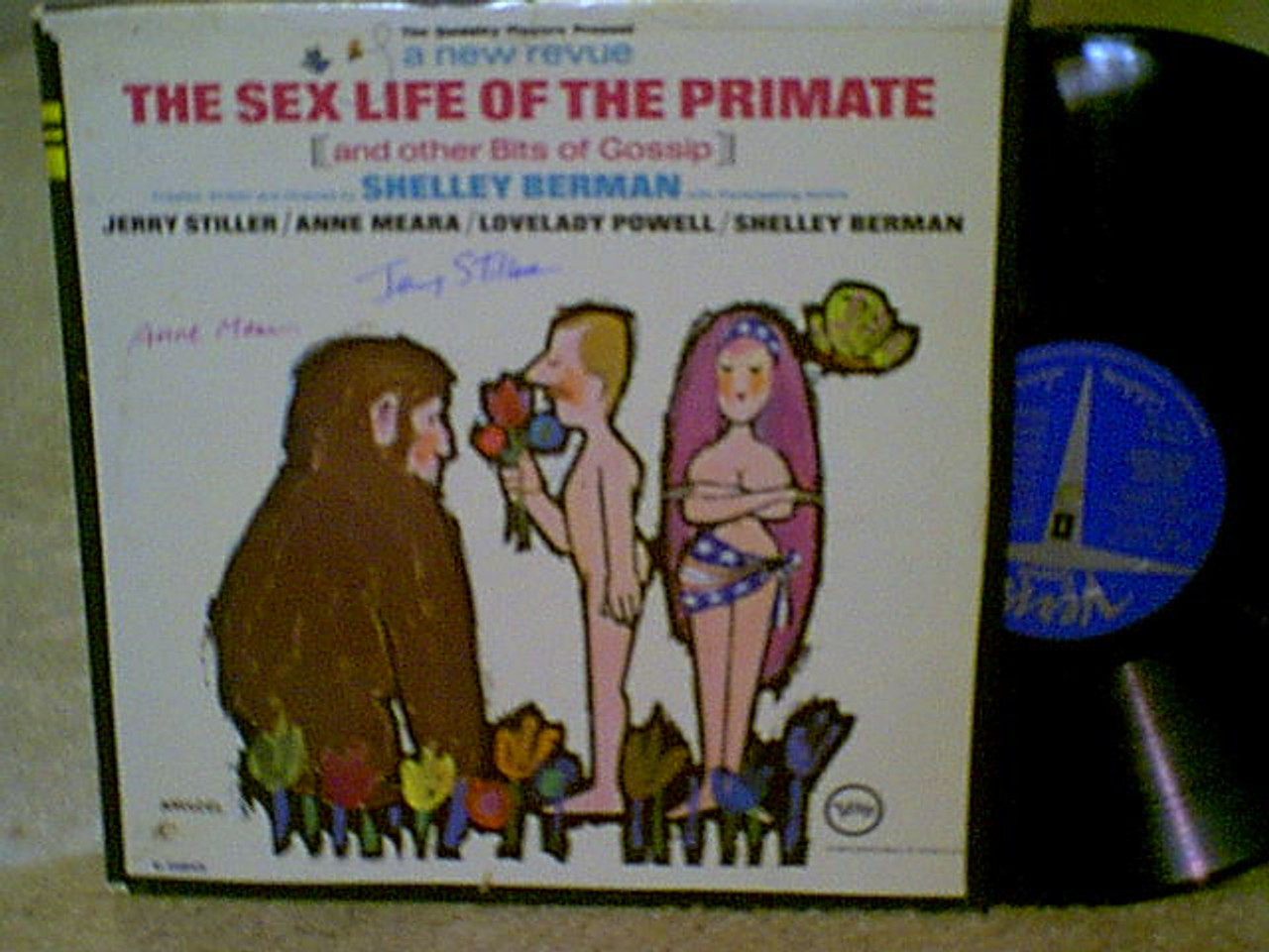 Stiller, Jerry Anne Meara LP Signed Autograph The Sex Life Of The Primate