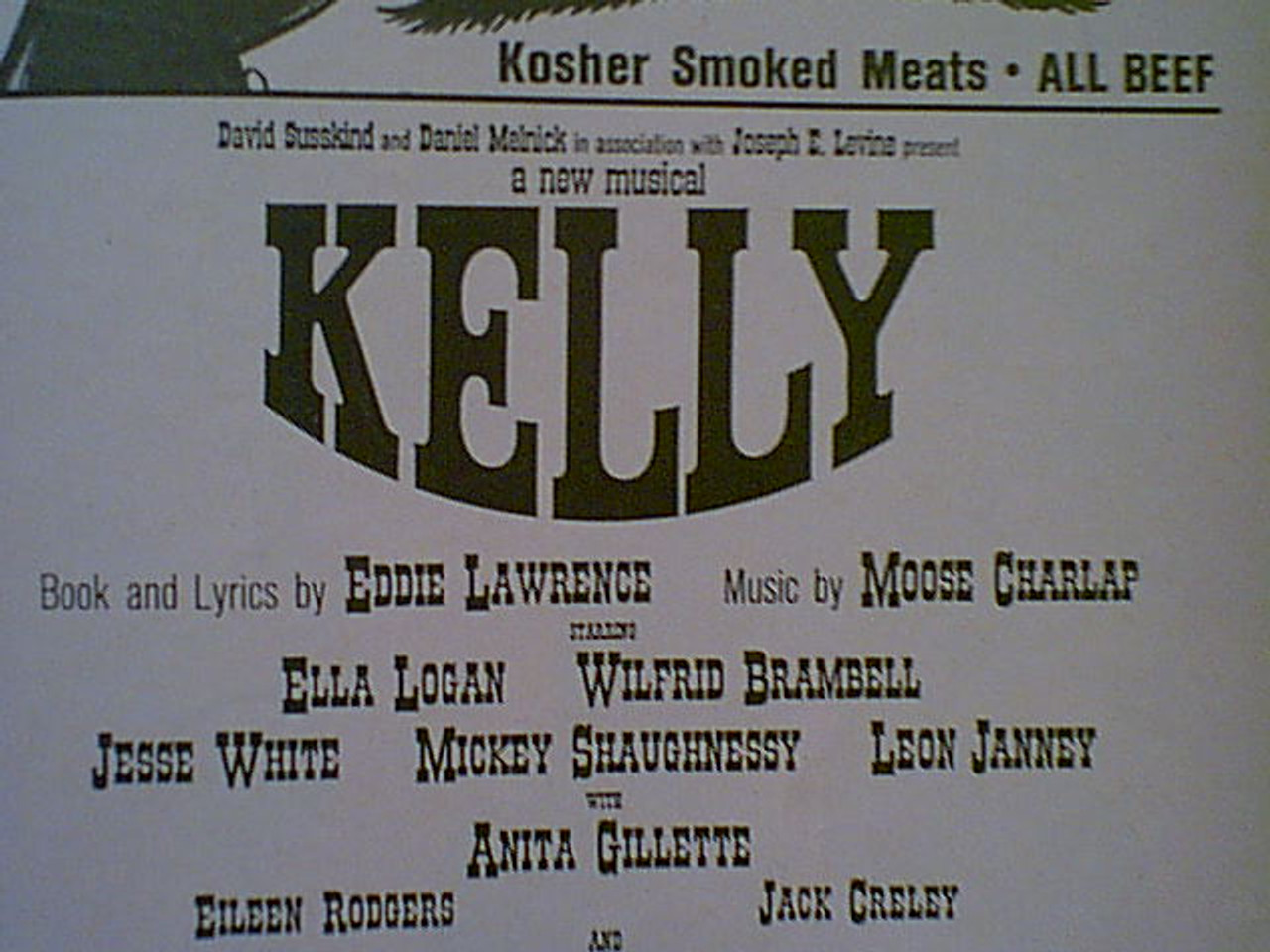 """Susskind, David """"Kelly"""" 1964 Playbill Signed Autograph"""