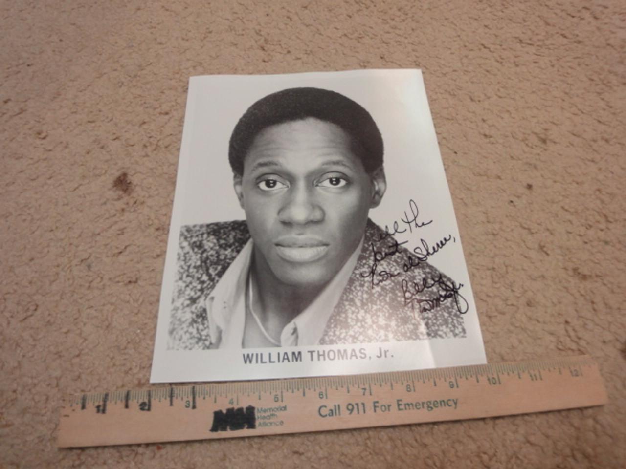 Thomas Jr., William Publicity Photo Signed Autograph