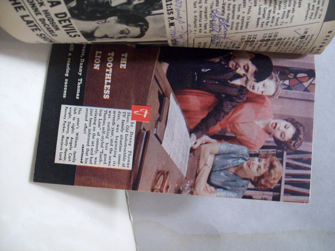 Thomas, Danny Tv Guide Signed Autograph 1959