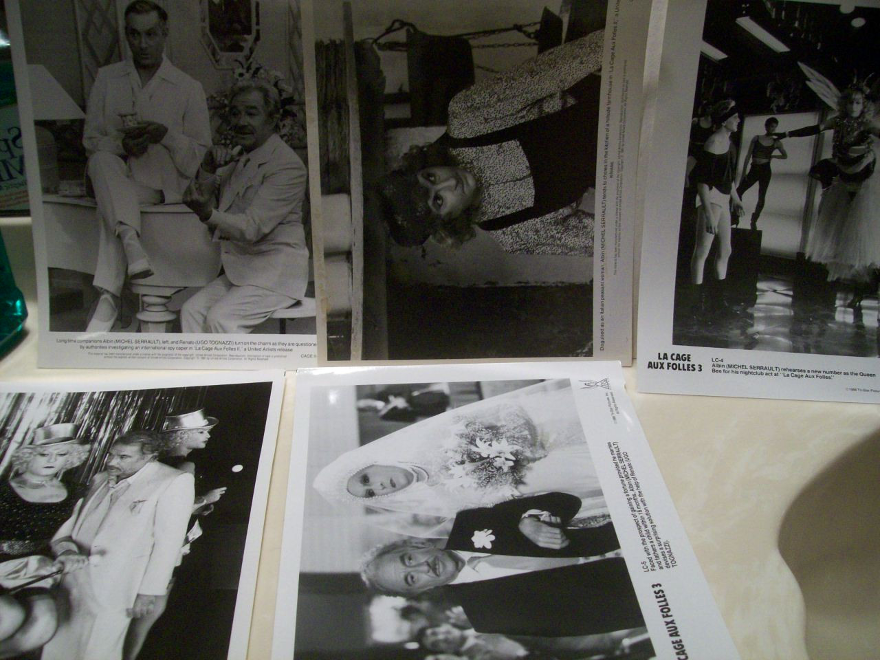 Tognazzi, Ugo Press Kit Photo Signed Autograph La Cage Aux Folles 3 1986