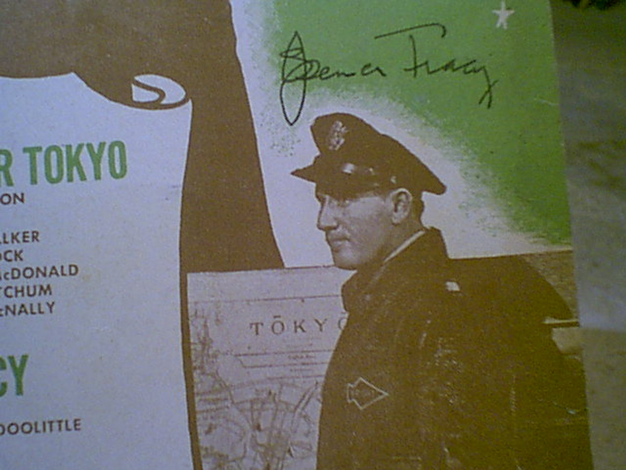 """Tracy, Spencer Van Johnson """"Thirty Seconds Over Tokyo"""" 1944 Sheet Music Signed Autograph"""