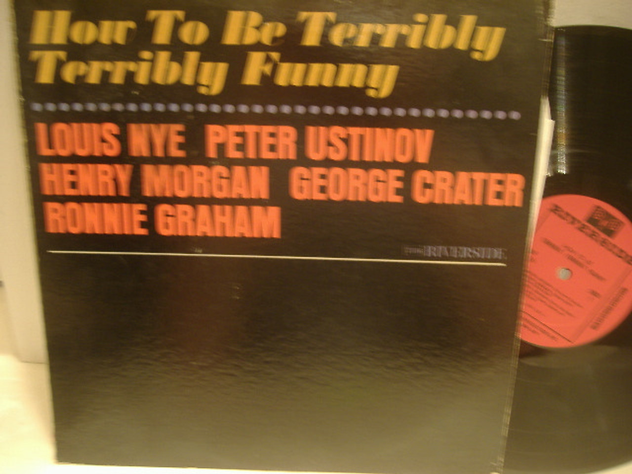 Ustinov, Peter Louis Nye LP Signed Autograph How To Be Terribly Funny