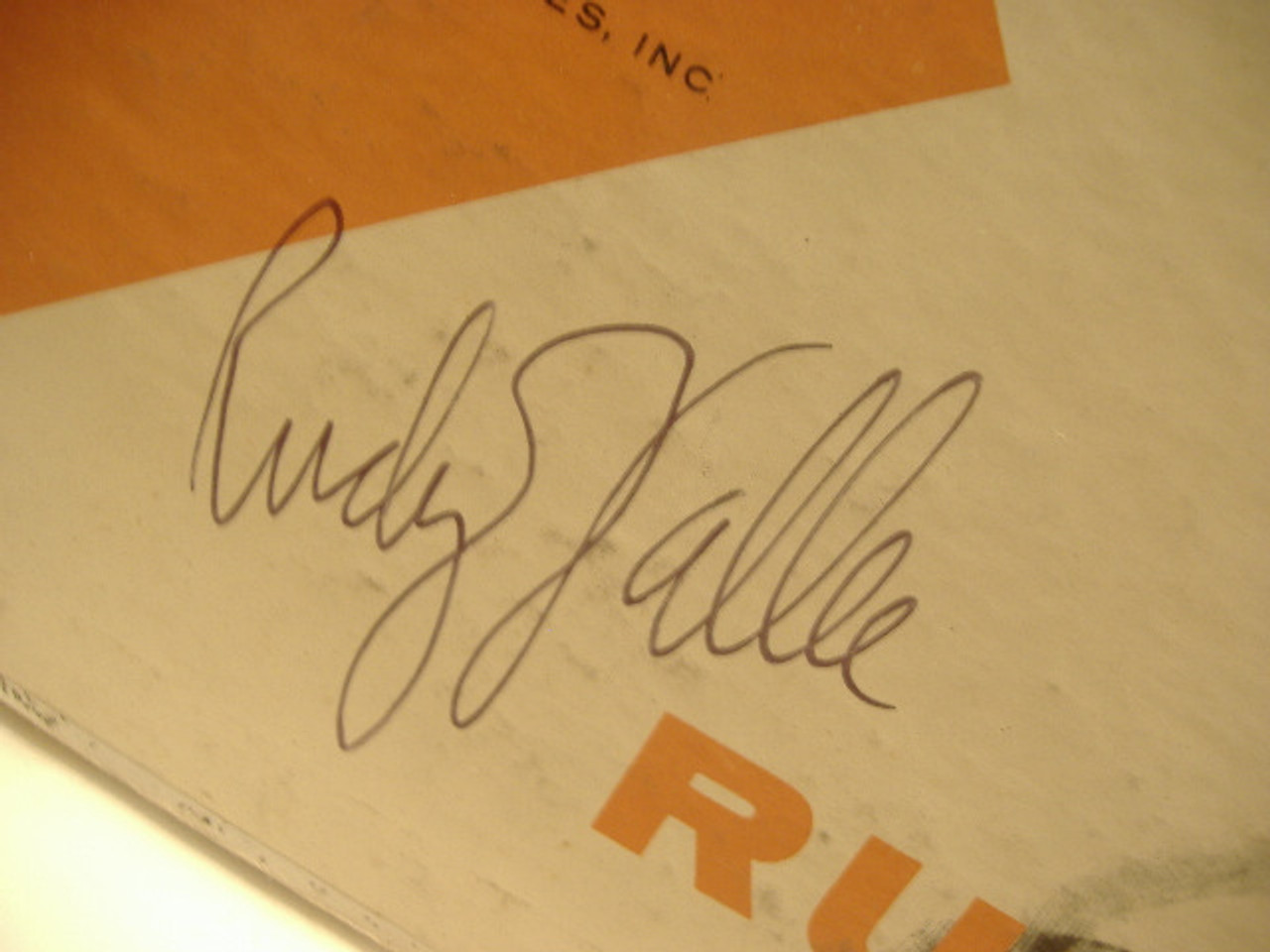 Vallee, Rudy LP Signed Autograph The Kid From Maine