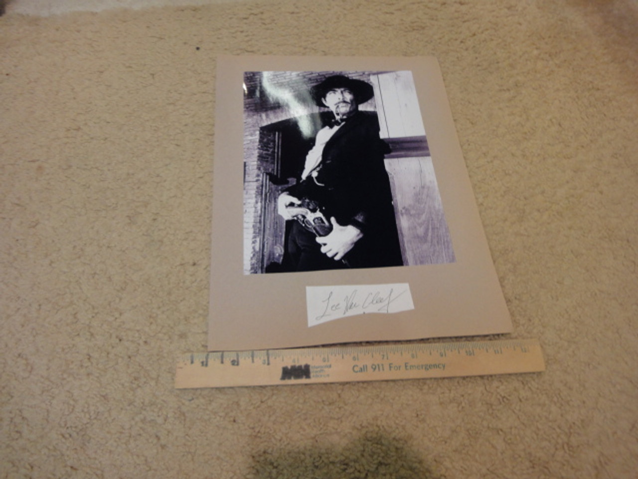 """Van Cleef, Lee Photo Signed Autograph """"The Good The Bad And The Ugly"""" Movie Scene"""