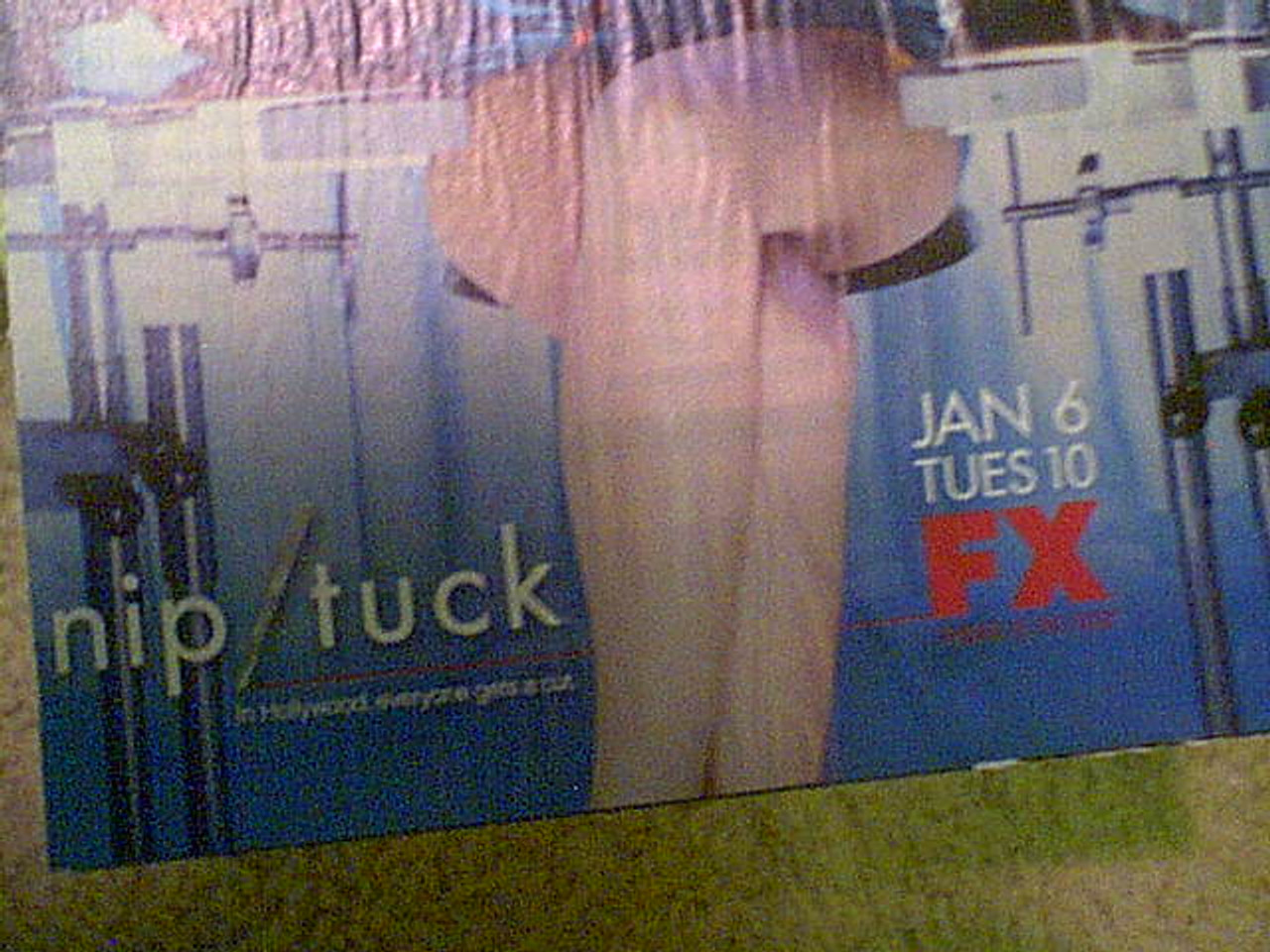 """Walsh, Dylan And Julian Mcmahon """"Nip/Tuck"""" 2003 Color Mini Poster Signed Autograph"""