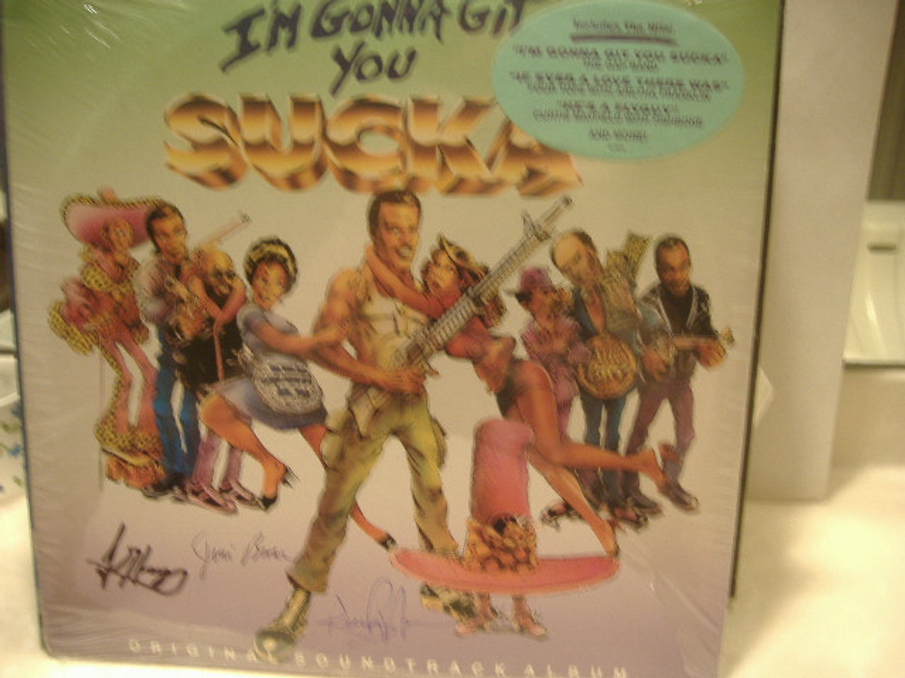 Wayans, Keenan Ivory Isaac Hayes Jim Brown LP Signed Autograph Sealed I'M Gonna Git You Sucka 1988