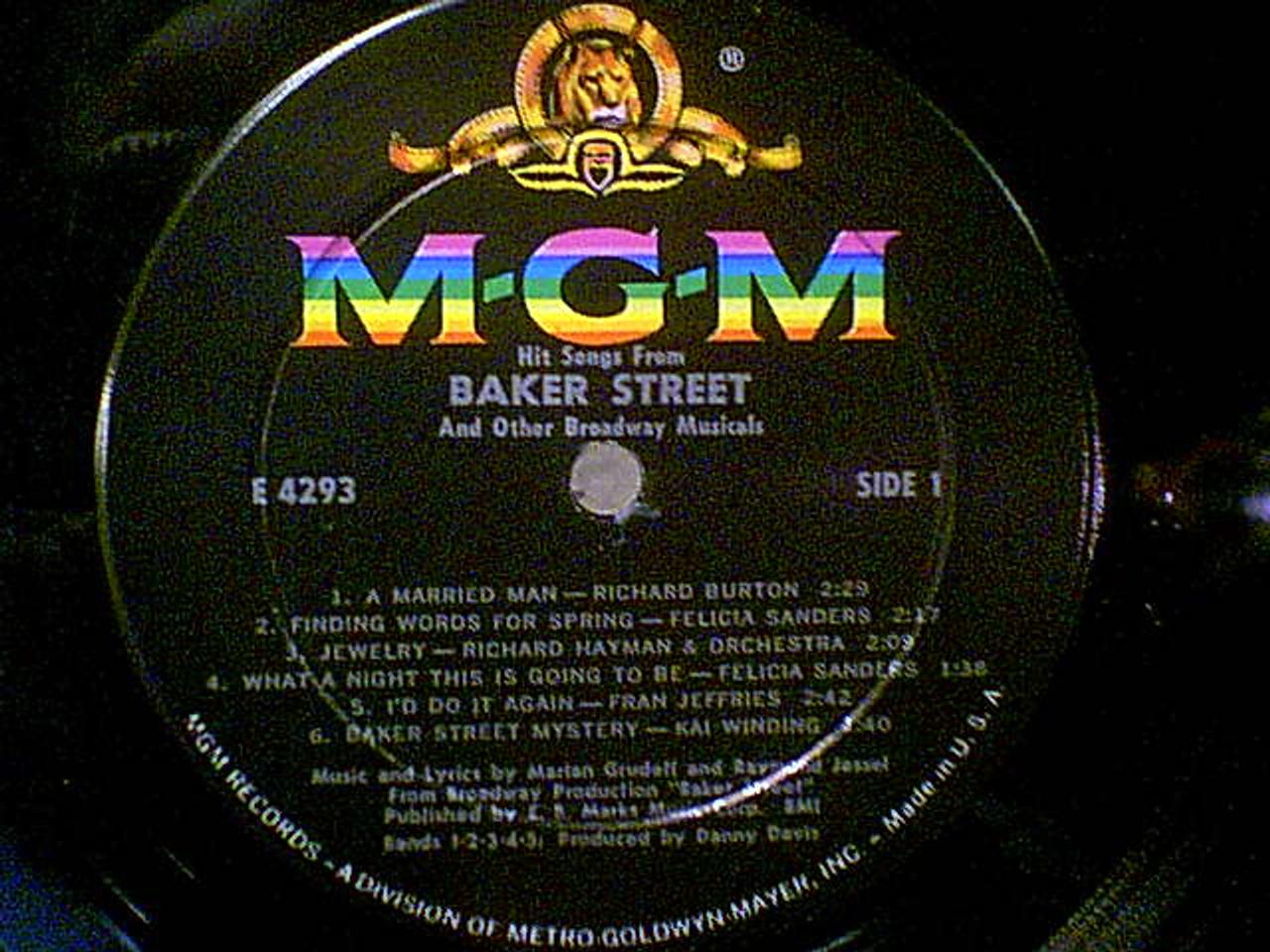 "Weaver, Fritz & Inga Swenson ""Hit Songs From Baker Street"" 1966 LP Signed Autograph"