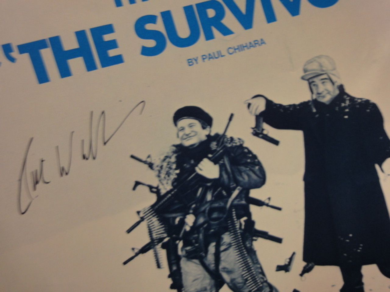 """Williams, Robin """"Theme From Survivors"""" 1983 Sheet Music Signed Autograph Cover Photo"""