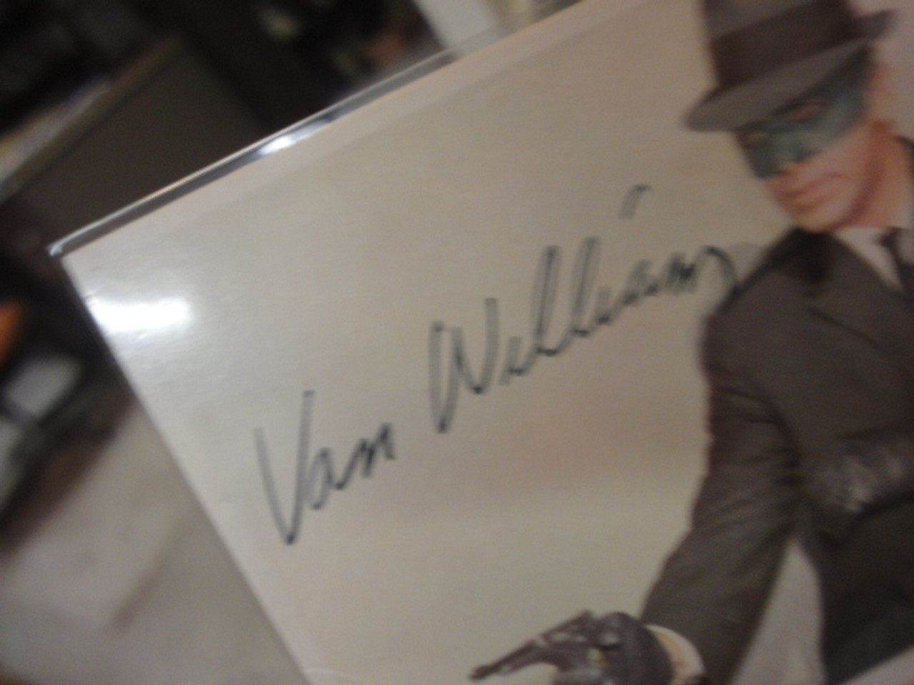 Williams, Van Green Hornet Color Trading Card 1966 Signed Autograph