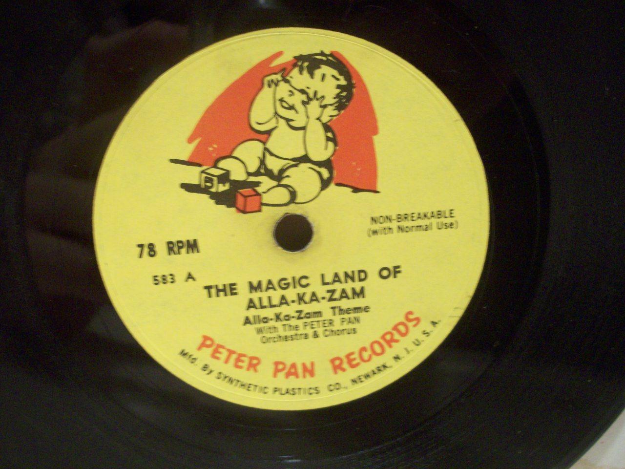 Wilson, Marc 78 Rpm Signed Autograph The Magic Land Of Alla Ka Zam 1962