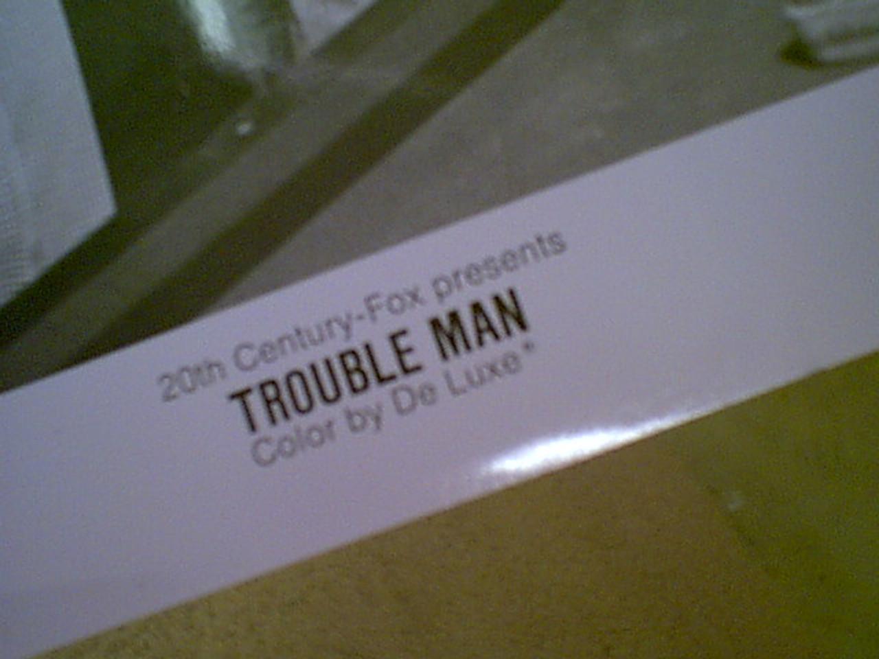 "Winfield, Paul & Robert Hooks 1972 Photo Signed Autograph ""Trouble Man"" Movie Scene"