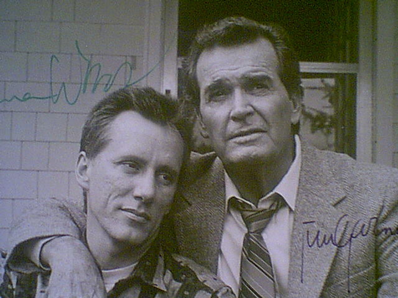 "Woods, James & Jim Garner 1986 Photo ""Promises"" Signed Autograph With Byline"