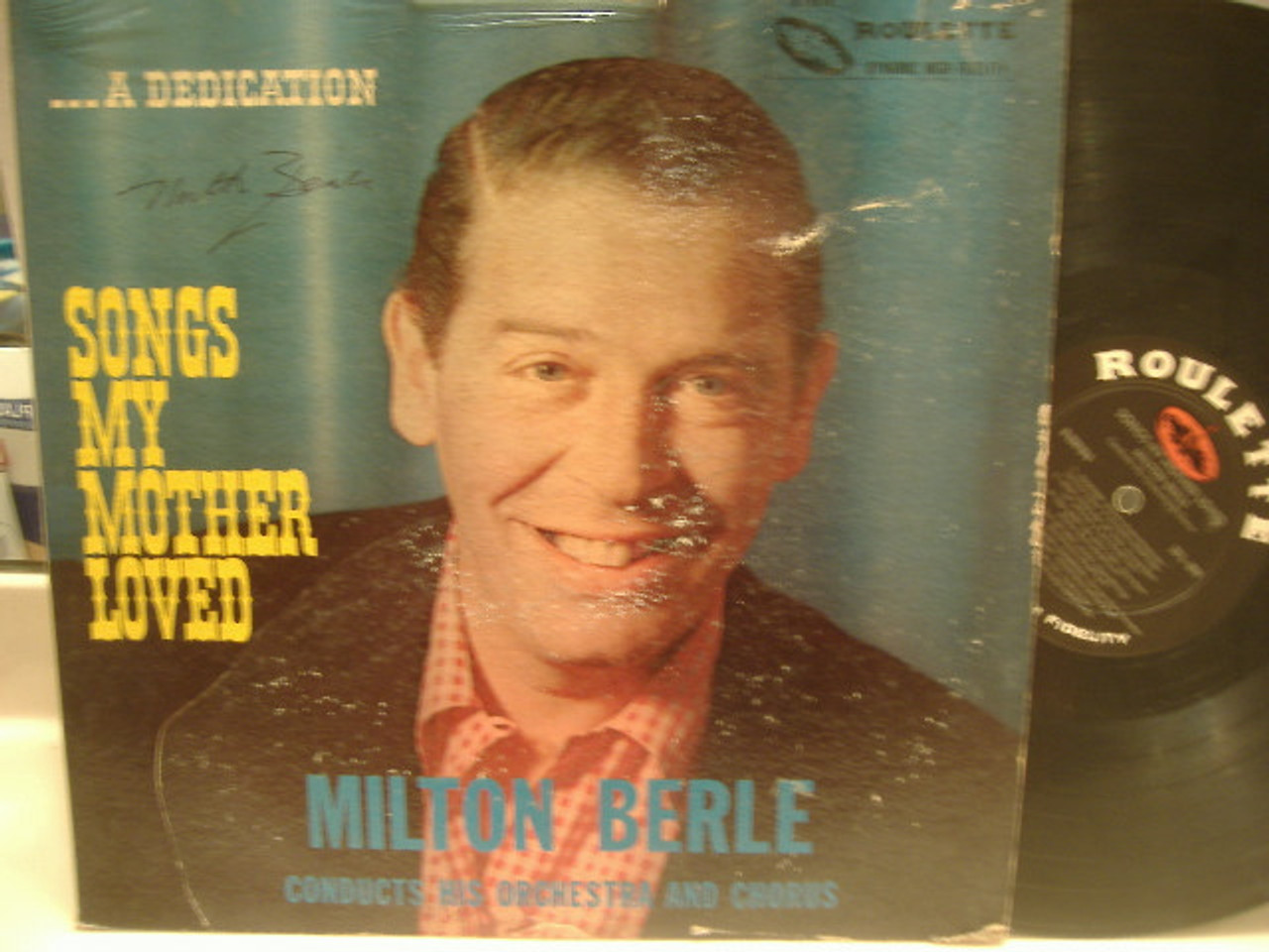 Berle, Milton LP Autograph Songs My Mother Loved