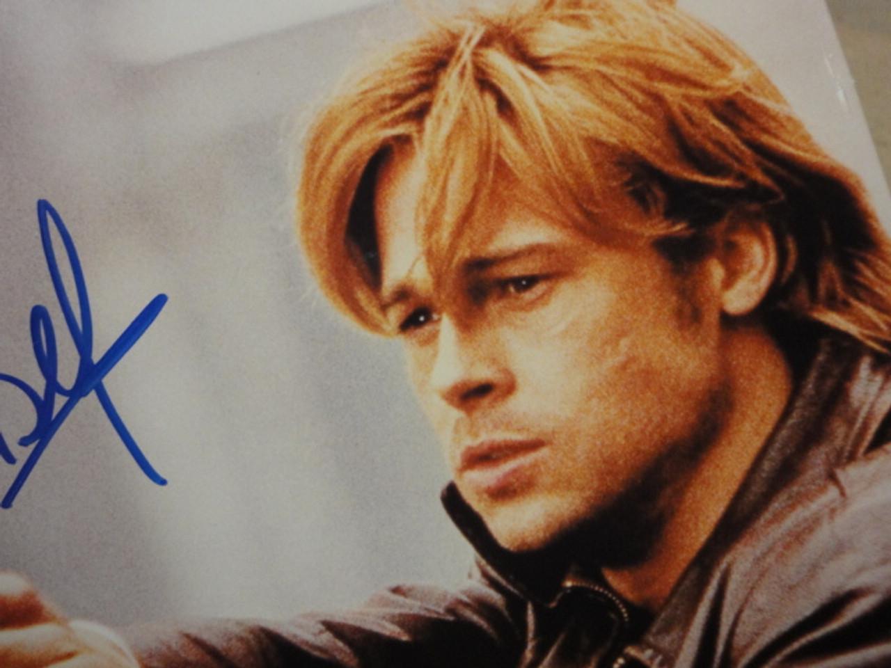 Pitt, Brad Color Photo Signed Autograph Movie