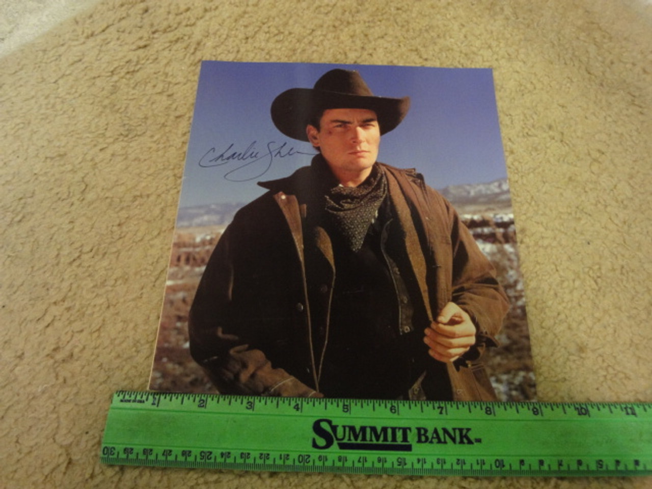 Sheen, Charlie Color Photo Signed Autograph Movie