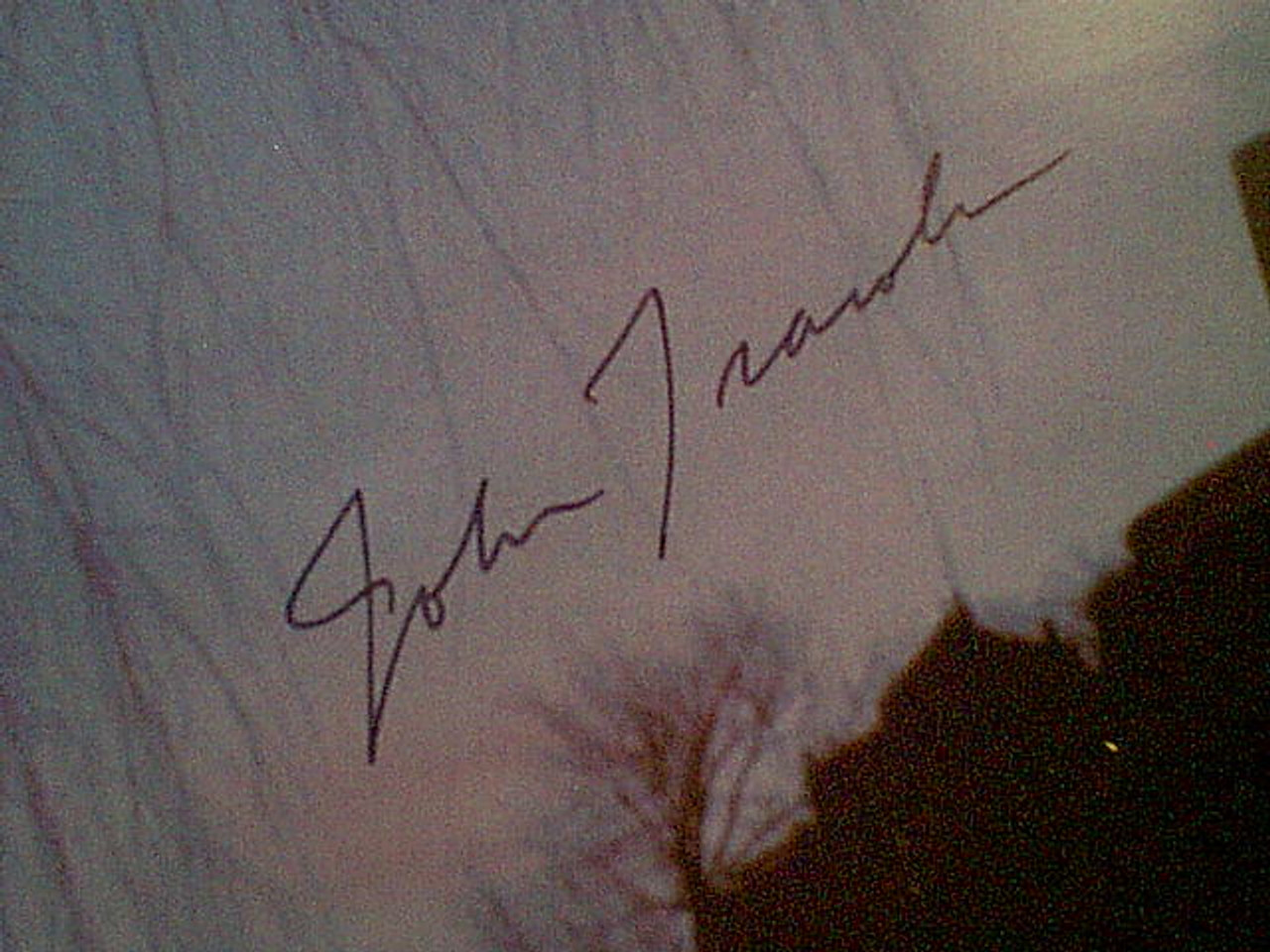 Travolta, John Color Photo Signed Autograph - Movie