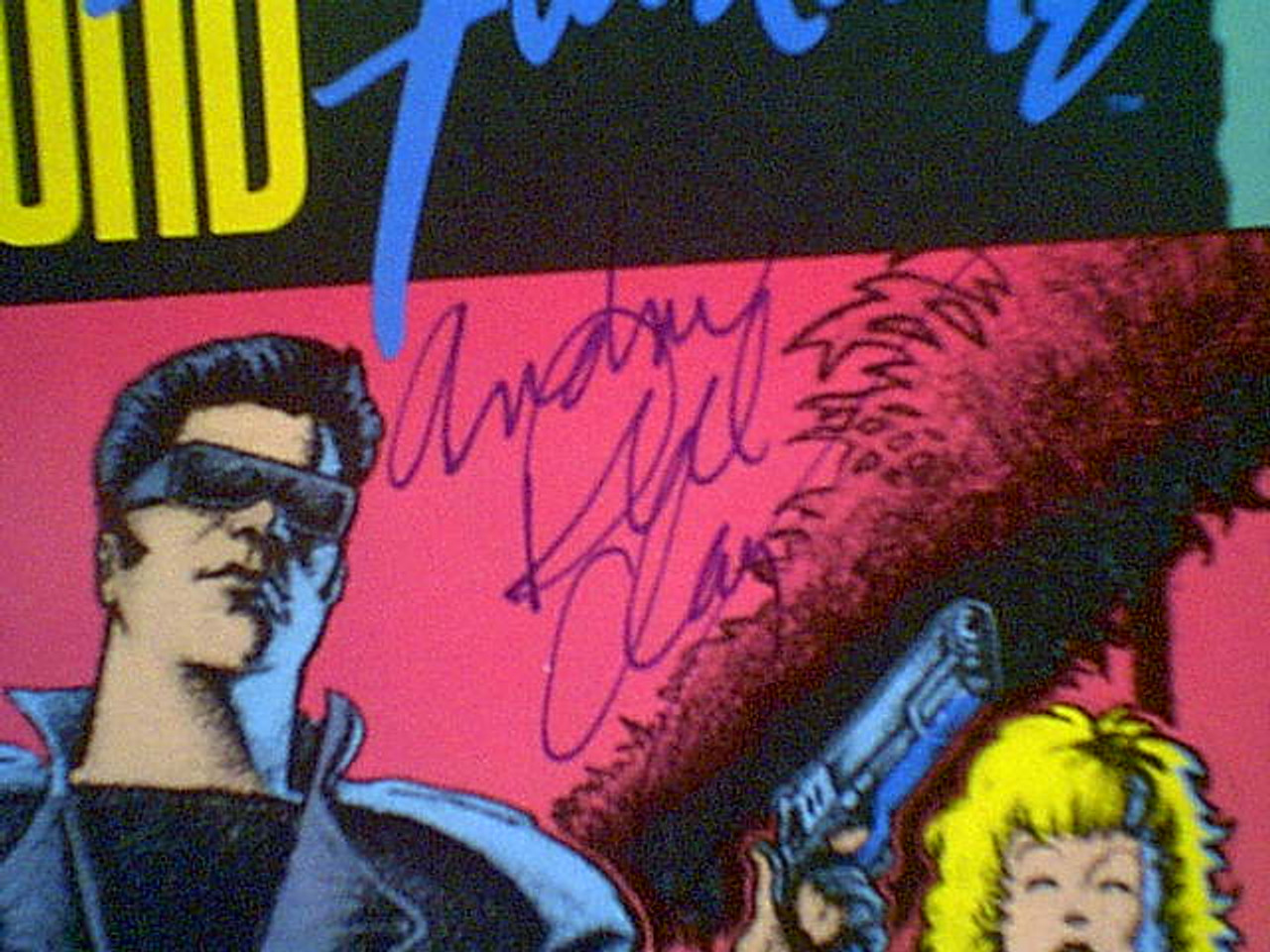 """Clay, Andrew Dice """"The Adventures Of Ford Fairlane"""" 1990 Comic Book Signed Autograph Illustrated"""